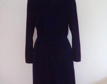 Vintage  Midnight Blue Lanz Originals Dress.