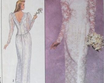 Vintage Wedding Dress Pattern - Sizes 14-16 - Simplicity 9099 - Women's Evening Dress Pattern