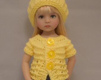 "1. Sweaters & Hat - PDF Knitting Pattern for Dianna Effner 13"" Little Darling Dolls"