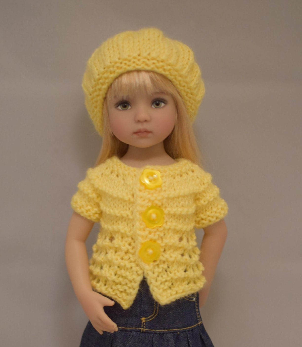 Knitting Pattern Dolls Hat : 1. Sweaters & Hat PDF Knitting Pattern for Dianna Effner