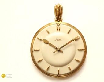 Gorgeous MAUTHE ART DECO Wall Clock - 40s Kienzle Mid Century Modern Germany mcm 50s brass