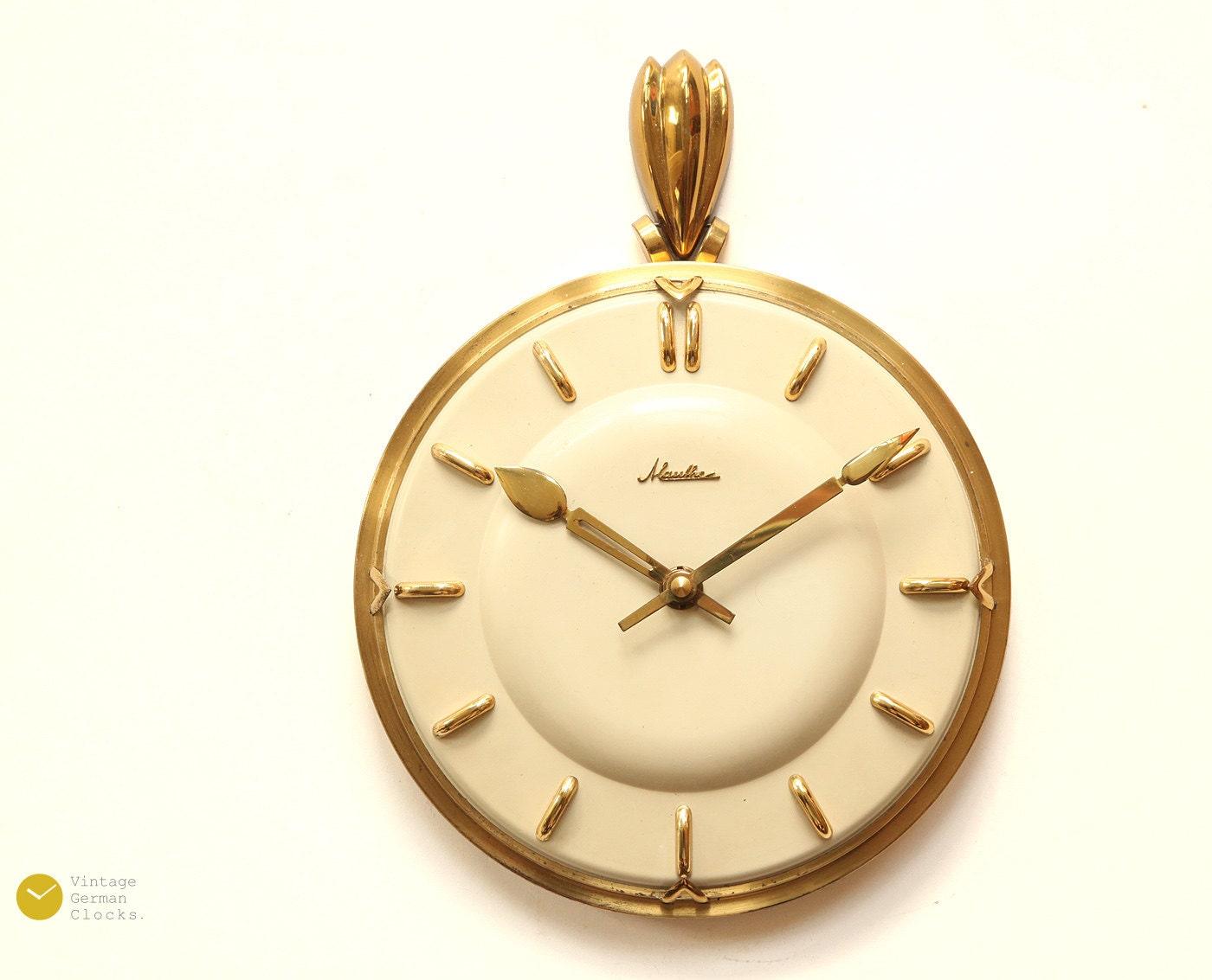 Gorgeous MAUTHE ART DECO Wall Clock 40s Kienzle Mid Century
