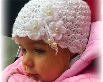 Crochet Hats, Women's and Babies Hat, Handmade Crochet Flower Hat, Spring Hat