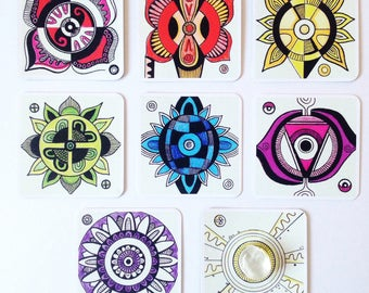 ChakraCare Cards, Self Care + Meditation, Healing Tool, Oracle Set