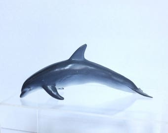 Monterey Bay Aquarium Bottlenose Dolphin Model Vintage Monterey Bay Solid Teaching Ocean Animal Model for Ocean Diorama, Similar to Schleich