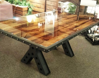 Modern Industrial Rustic 6 Foot Dining Table, Kitchen Table, Conference  Table Made Of Recycled