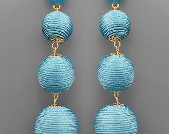 Blue BonBon Drop Earrings