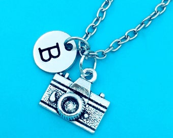 Camera necklace, camera charm necklace, personalized necklace, custom charm pendant, initial necklace, camera pendant, picture camera chain