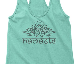 Yoga Shirt Yoga Tank Top Workout tank Namaste Shirt Om symbol Om tank Namaste Lotus Flower Tank Meditation Shirt Gym Shirt