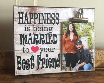 Wedding Gift, Anniversary Gift, Valentine's Day Gift, Housewarming Gift, Happiness Is Being Married To Your Best Friend,  8x10