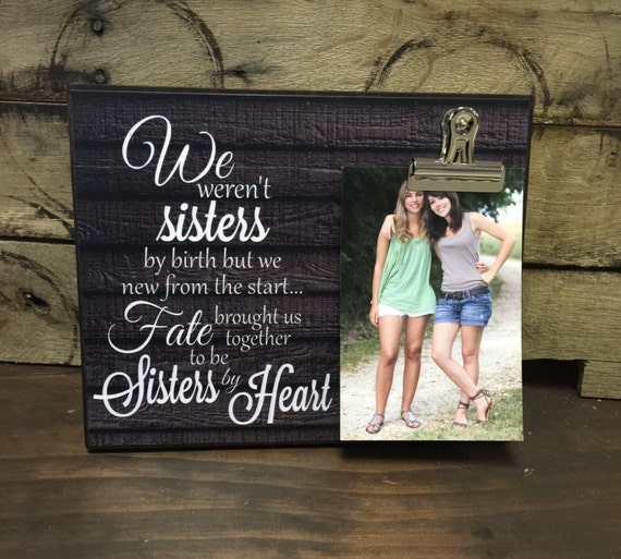 Personalized Picture Frame Gift For Sister By