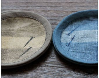 Natural Tie-dyed Linen Coaster