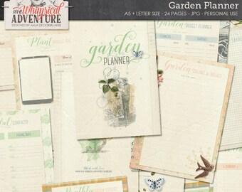 Printable Garden Planner Plant Seed Starter Harvest Tracker Log Seasonal Instant Download Journal