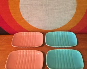 Vintage Franciscan Ware El Patio Soap Dish, Turquoise or Coral, Two of Each Available, Vegetable Dish, Franciscanware Trinket Tray