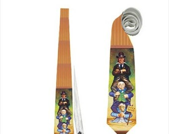 Necktie haunted mansion stretching room quick sand funny horror terror painting