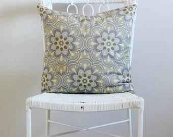 Gray, Yellow flower Decorative Pillow covers, Gray, Yellow Couch Pillow Covers, Yellow Decorative Throw Pillow, Gray Euro Sham, Pillow Sham