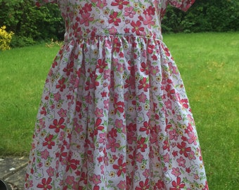 Handmade Gorgeous Floral Dress Age 2-3 Years