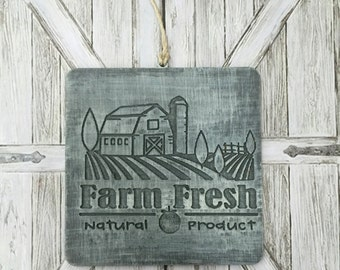 Farm Fresh, Farm House Decor, Hanging Sign, Mini Sign, Farmhouse, Tags, Farm Fresh Tags