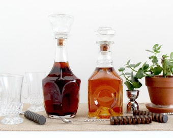 Glass Decanters - Pair of 2