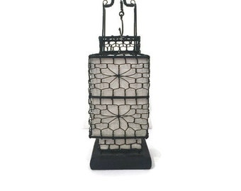 Vintage Chinese Wire Lantern for Candles & Tea Lights, Stylish Functional Home Decor