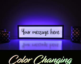 Custom Message Sign, Your Message Here, Custom Sign, Create Your Own Message, Custom Name Sign, Light Up Sign, Business Sign, Message Sign