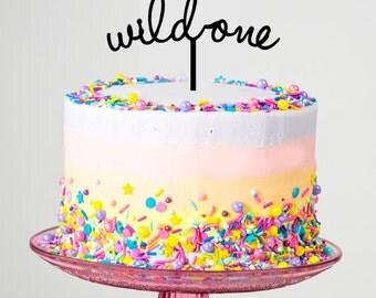 Handmade Wild One 1st Birthday Topper