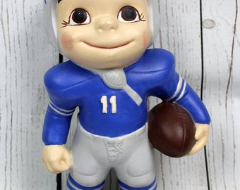 Detroit Lions Atlantic Mold Ceramic Figure, 11 Inches Tall #11 Greg Landry - Michigan, Collectible, NFL Football