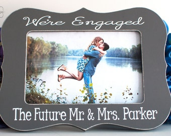 Engagement Gift Engagement Picture Frame Engagement Present Personalized Engagement Gift 4x6 Opening