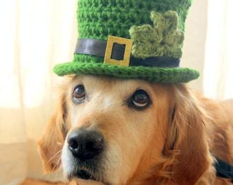 St. Patrick's Day Dog Hat, Leprechaun Hat for Dogs, Leprechaun Dog Costume, St. Patrick's Day Dog Costume, Bearded Dog Hat,