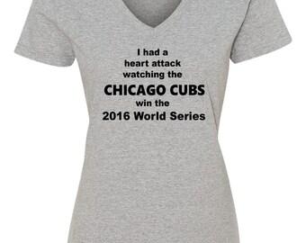 Heart Attack Cubs, Cubs World Series Shirt, 2016 Chicago Cubs World Series Shirt