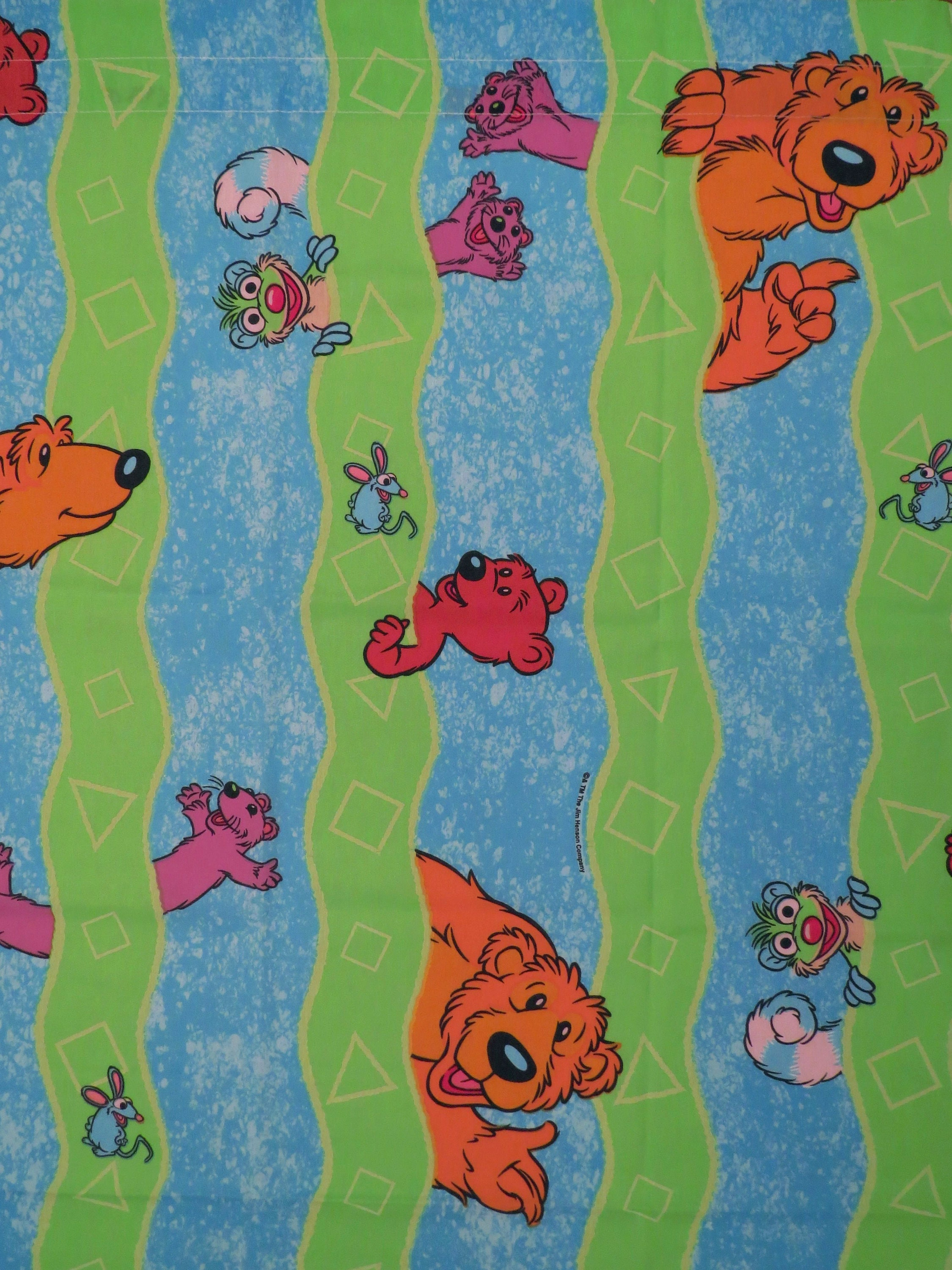 set of 2 bear in the big blue house curtain panels