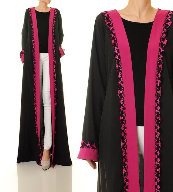 Maxi Cardigan Black Cardigan Long Sleeve Cardigan Abaya
