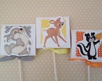 Bambi Party Lollipop Favors - Set of 10