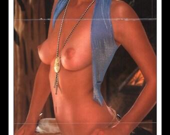 "Mature Playboy October 1980 : Playmate Centerfold Mardi Jacquet Gatefold 3 Page Spread Photo Wall Art Decor 11"" x 23"""