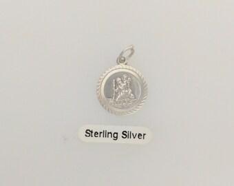 Silver Saint Christopher Charm