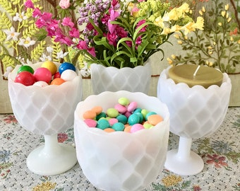 Milk Glass Vases Milk Glass Bowls Pedestal Vases Milk Glass Candy Dish Wedding Centerpiece Dessert Table Candy Buffet Sold Individually