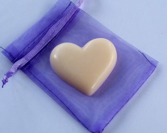 Sample Soy Wax Melts, Wax Melt, Wax Tart, Soy Wax, 5 x Heart Shaped Melts each in an Organza Bag, Choose up to 5 different aromas,