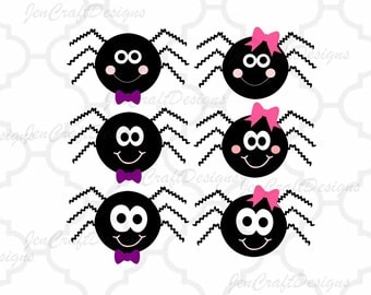 Spider SVG, DXF, EPS, Png Halloween, cut files for use with Silhouette Studio and Cricut Design Space. Monogram svg, bucket Vinyl cutting