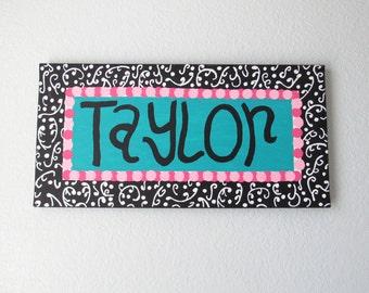 Taylor, Name Sign, Name Sign for Nursery, Name Signs for Kids, Name Art, Name Art Nursery, Name Canvas, Name Wall Art, Name Wall Decor