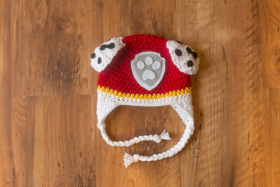 Crochet Hat Pattern Paw Patrol : Marshall PAW Patrol Hat Marshall Crochet Hat Paw Patrol