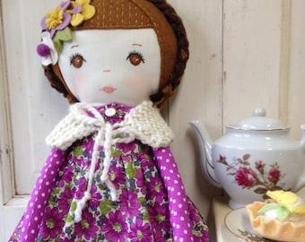 Fabric Doll / Rag Doll Handmade / Rag Dolls / Handmade Cloth Doll / Heirloom Doll / Dolls / Ragdolls / Custom Made Dolls / Nursery Decor