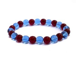 Soccer Bracelet - Burgundy Bracelet - Sky Blue Bracelet - Sports Team Wear - Game Day Fashion - Team Colors Bracelet - Colorado Rapids