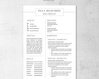 ella resume and cover letter template professional microsoft word resume cv template