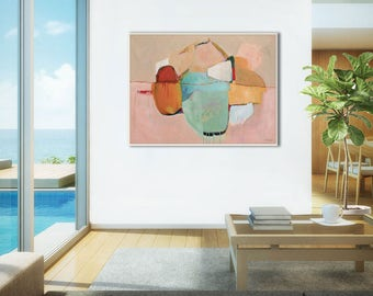 Large abstract painting print, abstract print large, office abstract art print, living room canvas art, large GICLEE PRINT, Awakenings #3