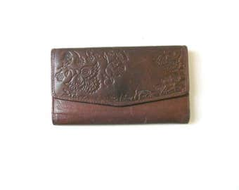 Chocolate Brown Leather Fossil Wallet