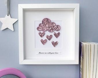 Rain cloud nursery wall art, baby shower gift, cloud wall art, baby gift, nursery wall art, rain cloud art, nursery decor