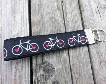 Bicycle   Key Fob   Keychain   Wristlet   Bike   Heart   Ride
