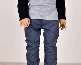 Denim Jeans 18 inch doll clothes Color Grey