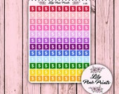 108 Colourful Mini Dollar Sign Half Sheet C-135 - Perfect for Erin Condren Life Planners / Journals / Stickers.