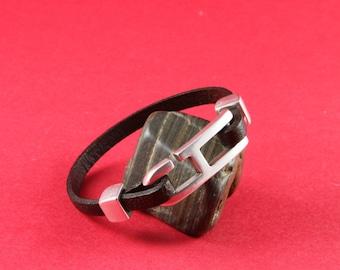 5/8 MADE in EUROPE 2 zamak hook clasps, flat cord hook clasp, bracelet hook clasp, 5mm flat cord clasp (11085-0077) Qty2